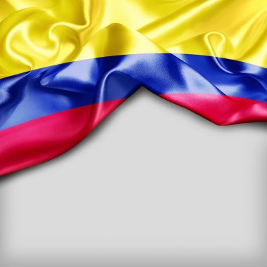 waving flag of Colombia