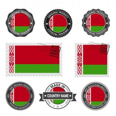 set of colored stamps Belarus