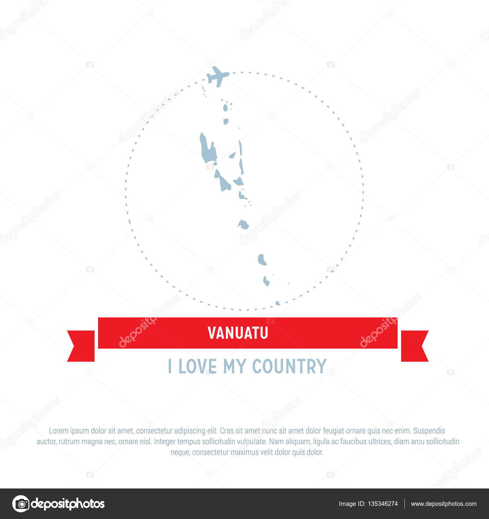 Vanuatu Map Icon Stock Vector Ibrandify - Vanuatu map download