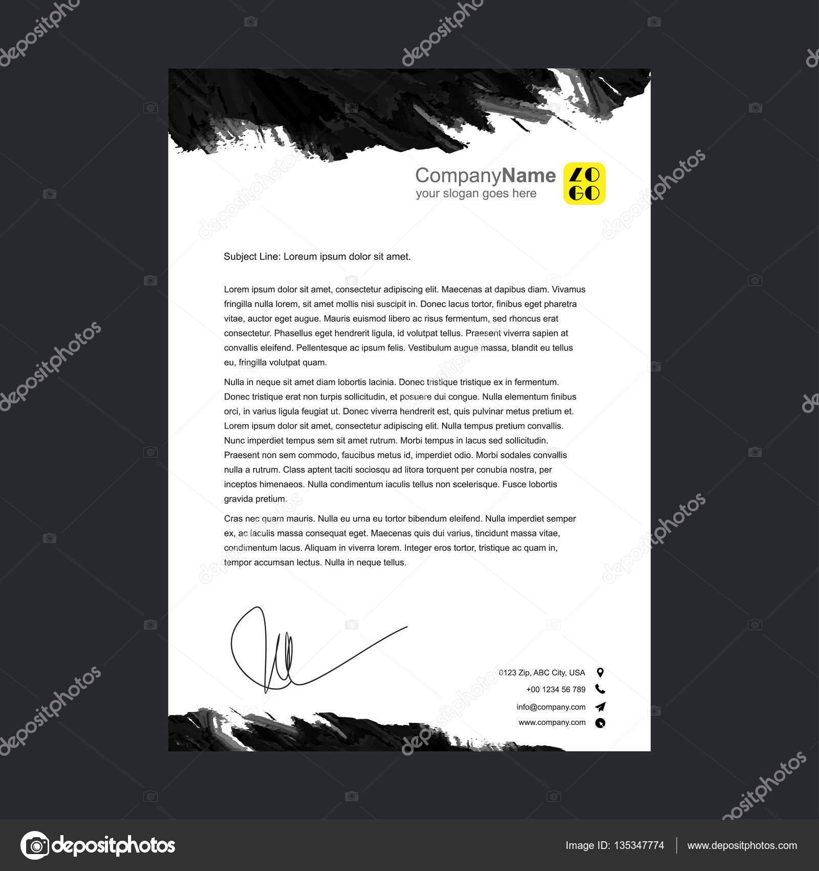 Corporate Official Letter Template  Stock Vector  Ibrandify