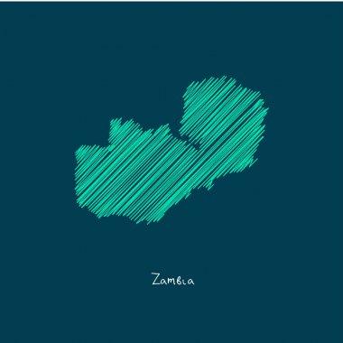 world map illustration, Zambia