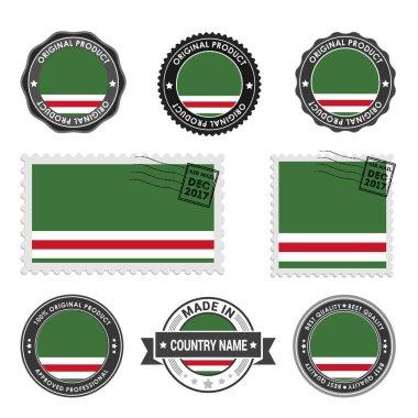 set of stamps Chechen Republic of Ichkeria