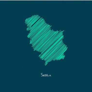 world map illustration, Serbia