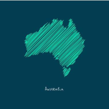 world map illustration, Australia