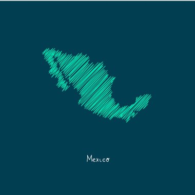 world map illustration, Mexico