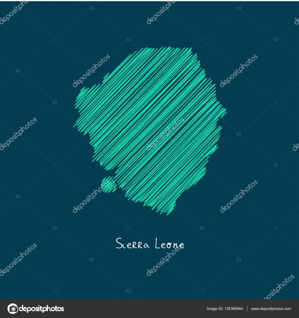World Map Illustration Sierra Leone Stock Vector C Ibrandify