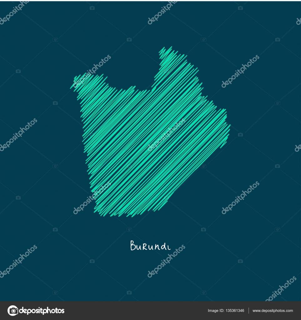World Map Illustration Burundi Stock Vector Ibrandify - Where is burundi on a world map
