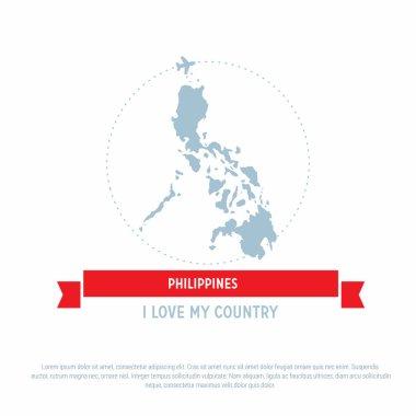 Philippines map icon