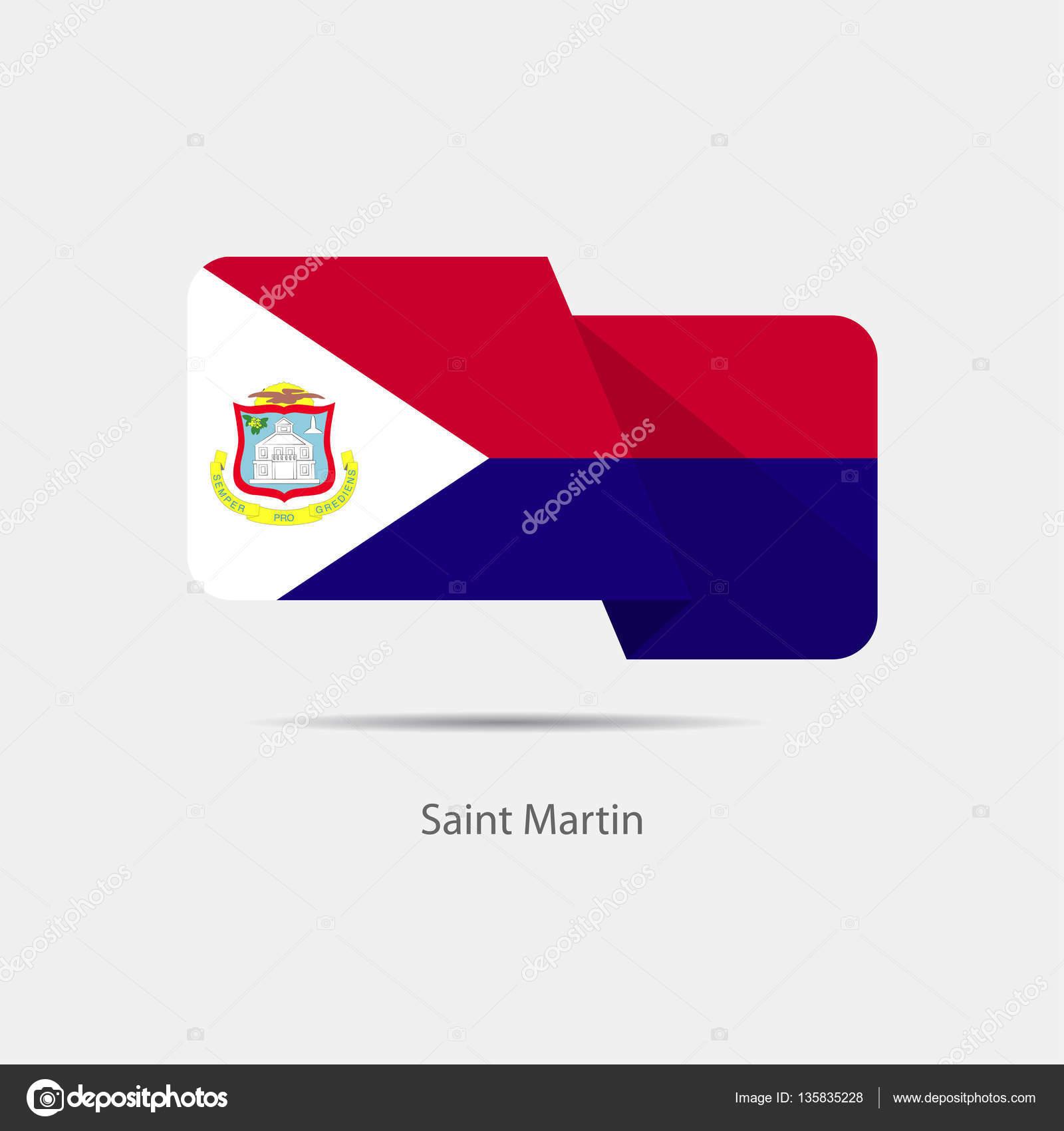 セント ・ マーチン島国旗ロゴ —...