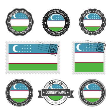 set of colored stamps Uzbekistan