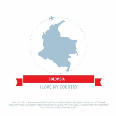 map in form of Colombia