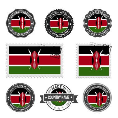 set of colored stamps Kenya