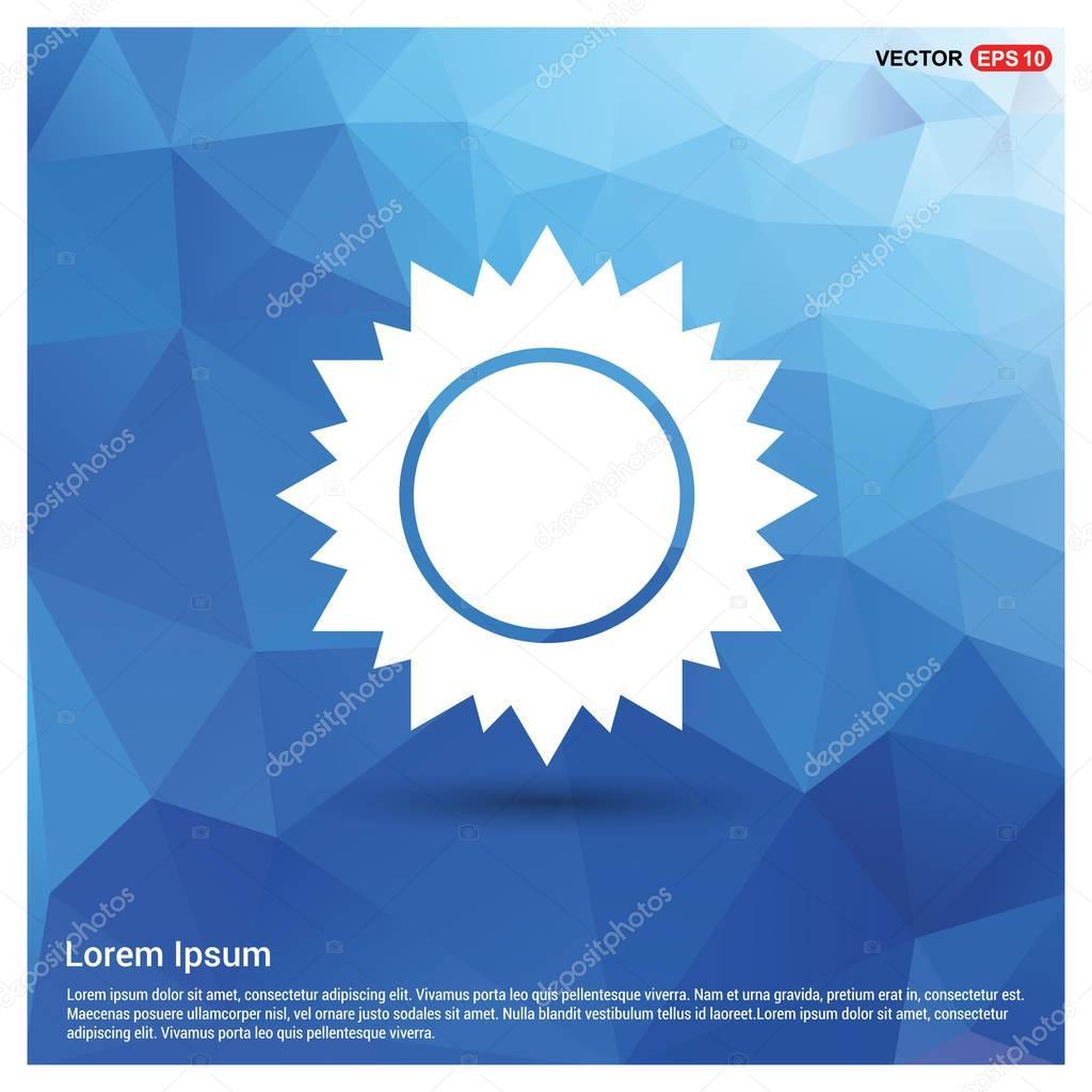 sun in blue button