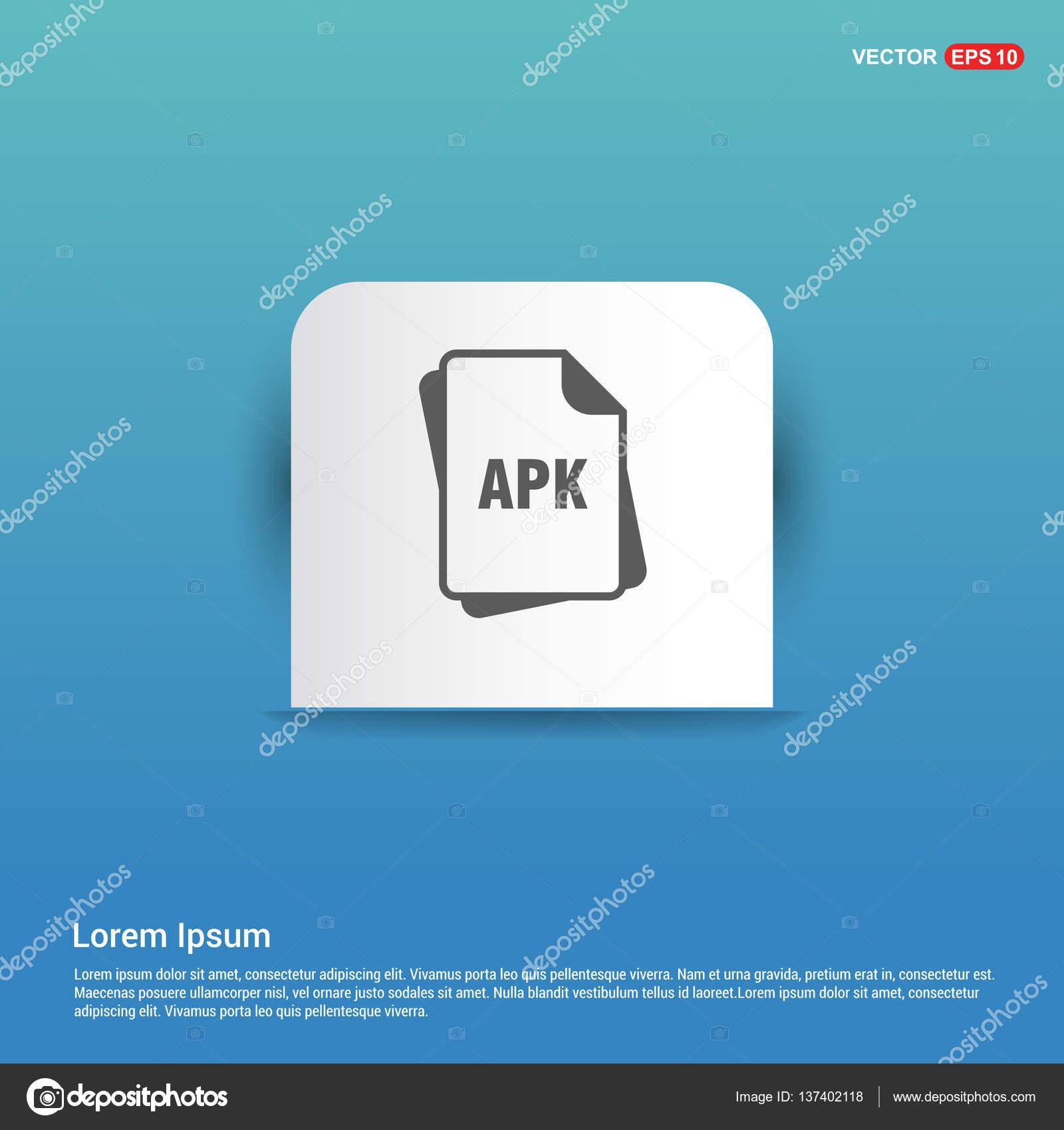 APK file format icon — Stock Vector © ibrandify #137402118