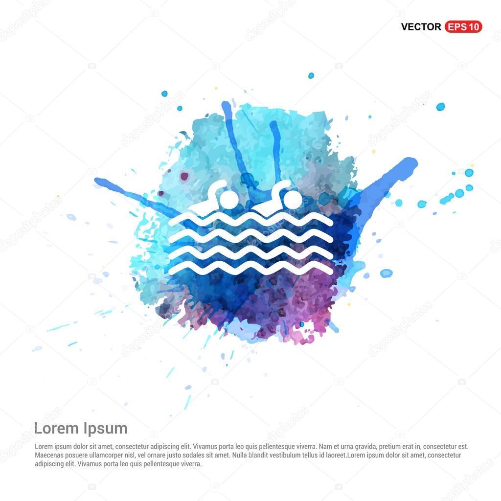swimming sport icon