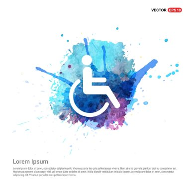 Disabled person icon.