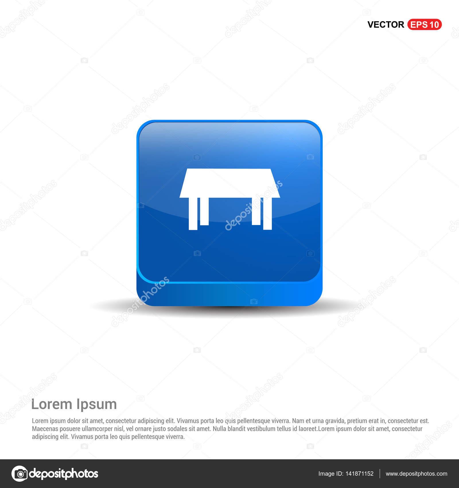 Küche-Tisch-Symbol — Stockvektor © ibrandify #141871152