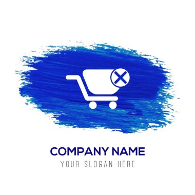 shopping icon in blue button