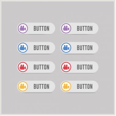 set of video camera buttons