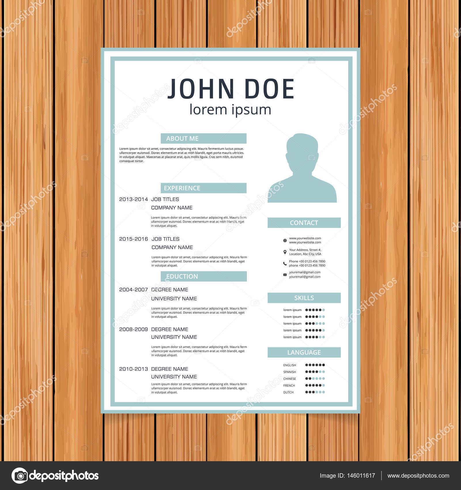 Plantilla de curriculum vitae para solicitudes de empleo — Archivo ...