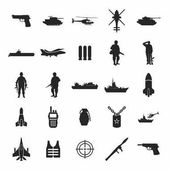 Fotografie Satz der militärische Symbole
