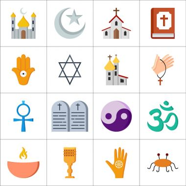 set of religions icons