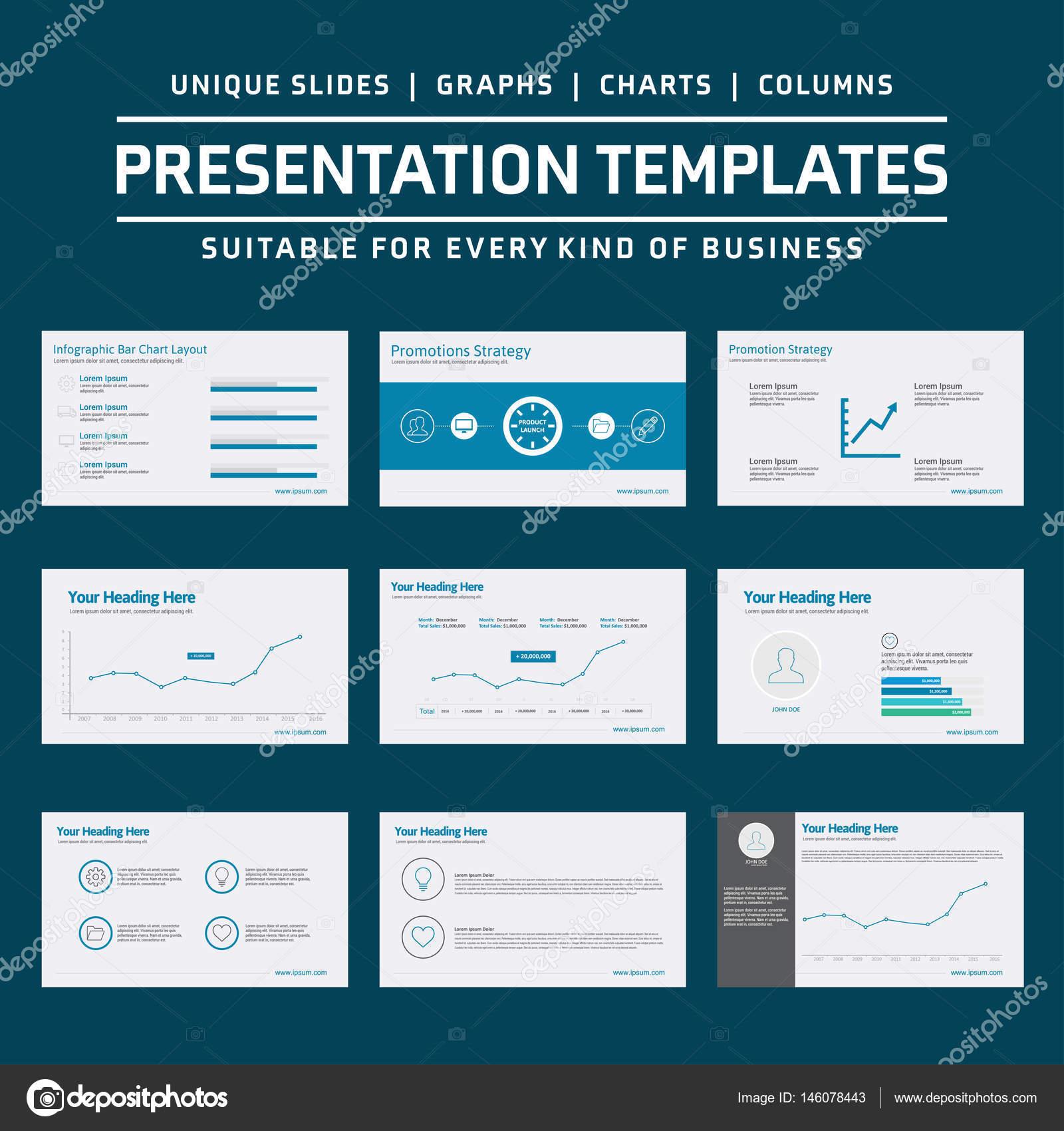 Business-Präsentationsvorlagen — Stockvektor © ibrandify #146078443