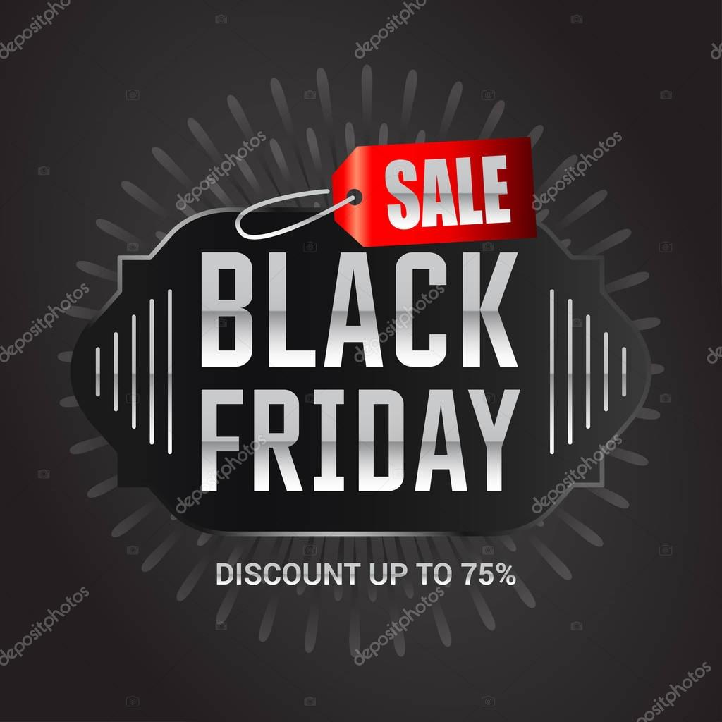banner of black friday sale