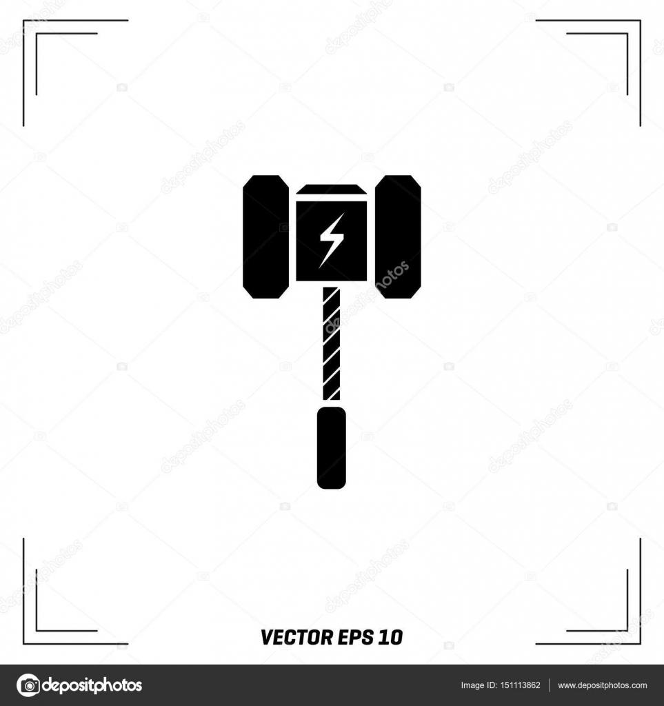 Vector Illustration Hammer: Stock Vector © Ibrandify #151113862