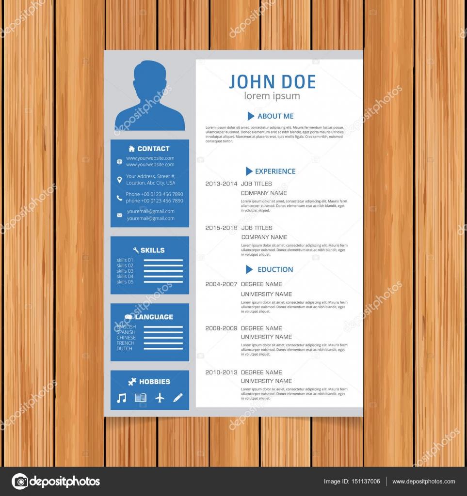 stylish resume template stock vector ibrandify 151137006
