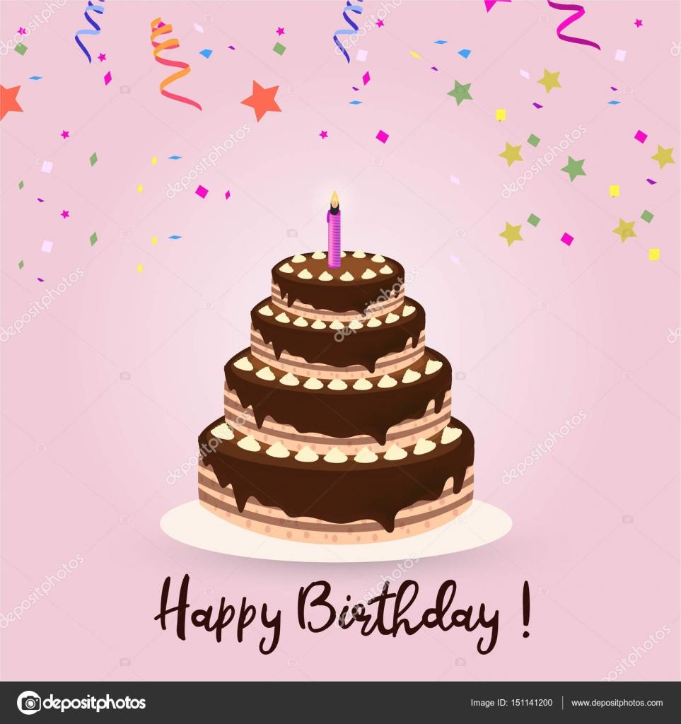 Happy Birthday greeting card — Stock Vector © ibrandify