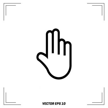 hands icon with two fingers