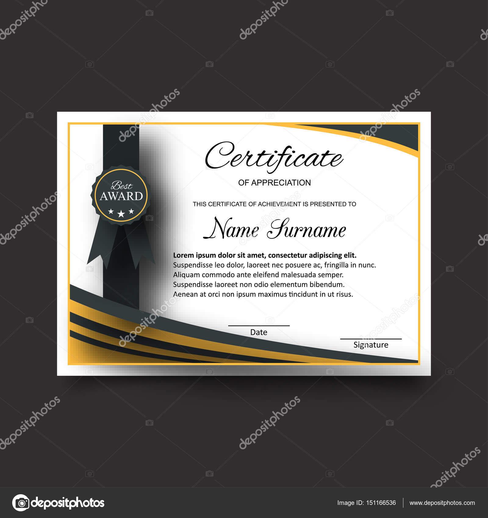 Business-Zertifikat-Vorlage — Stockvektor © ibrandify #151166536