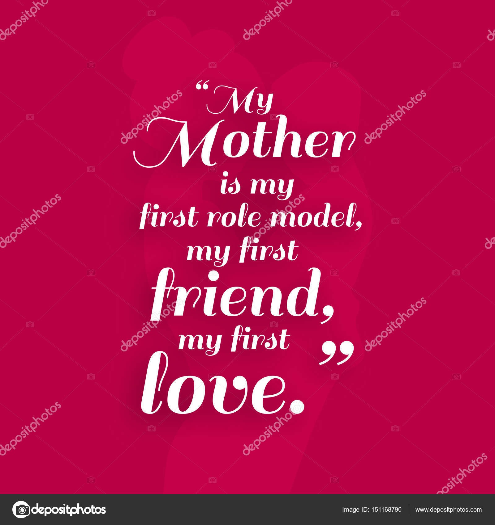 Happy Mothers Day Greeting Card Stock Vector Ibrandify 151168790