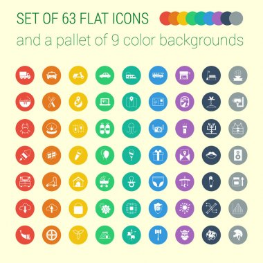 Set of mix flat icons