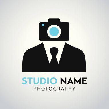 Black camera logo