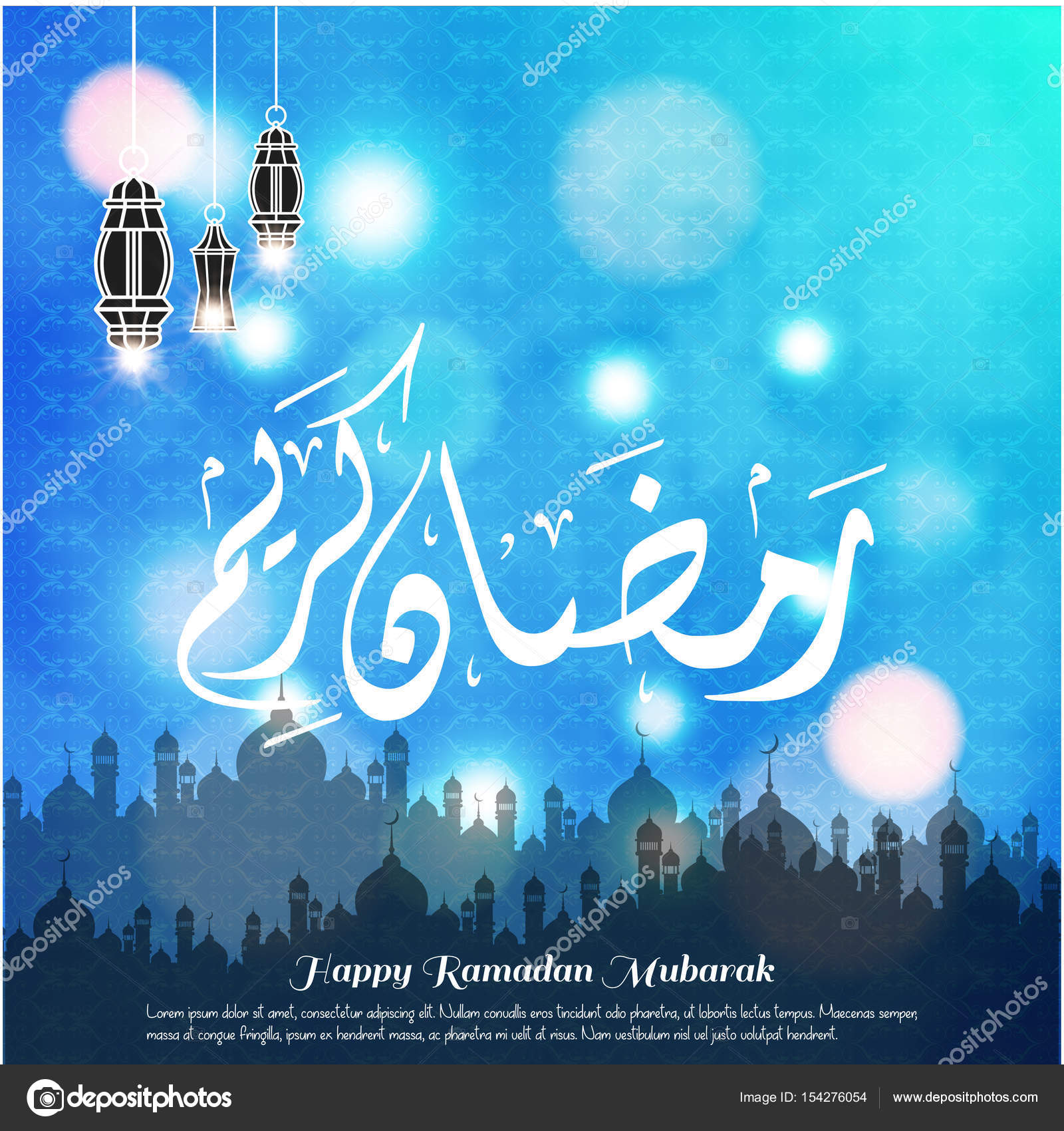 Ramadan mubarak greeting card stock vector ibrandify 154276054 ramadan mubarak greeting card stock vector m4hsunfo