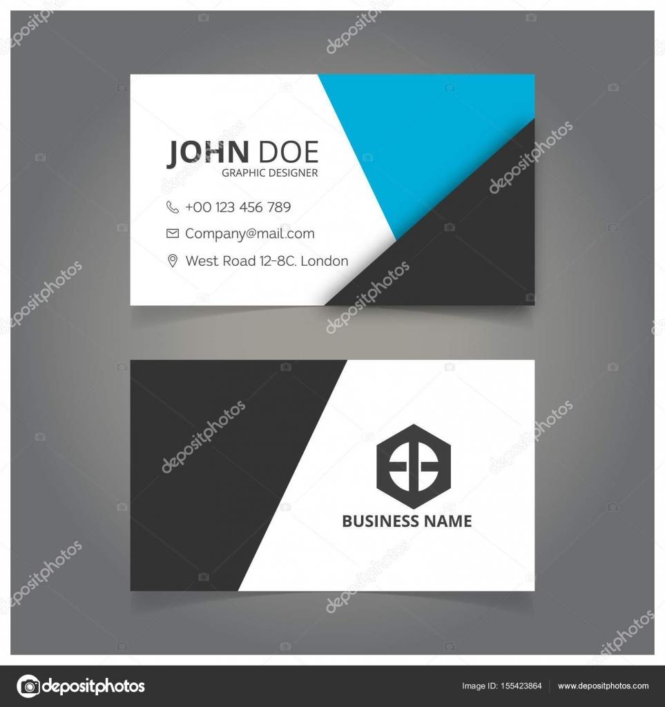 Cartes De Visite Personnelles Blanches Et Noires Vecteur Illustration Par Ibrandify