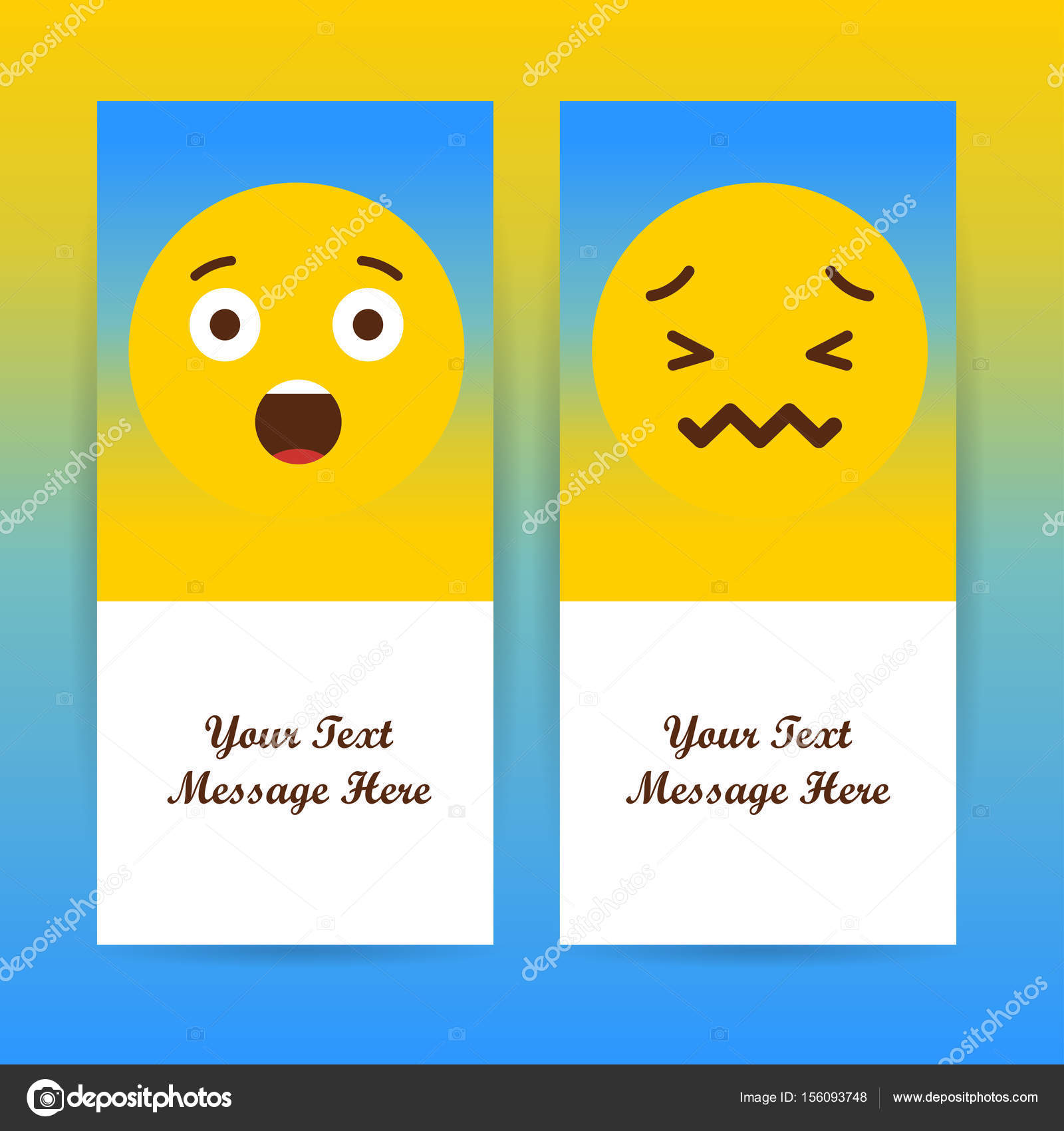 Smiley Faces Design Elements Stock Vector Ibrandify 156093748