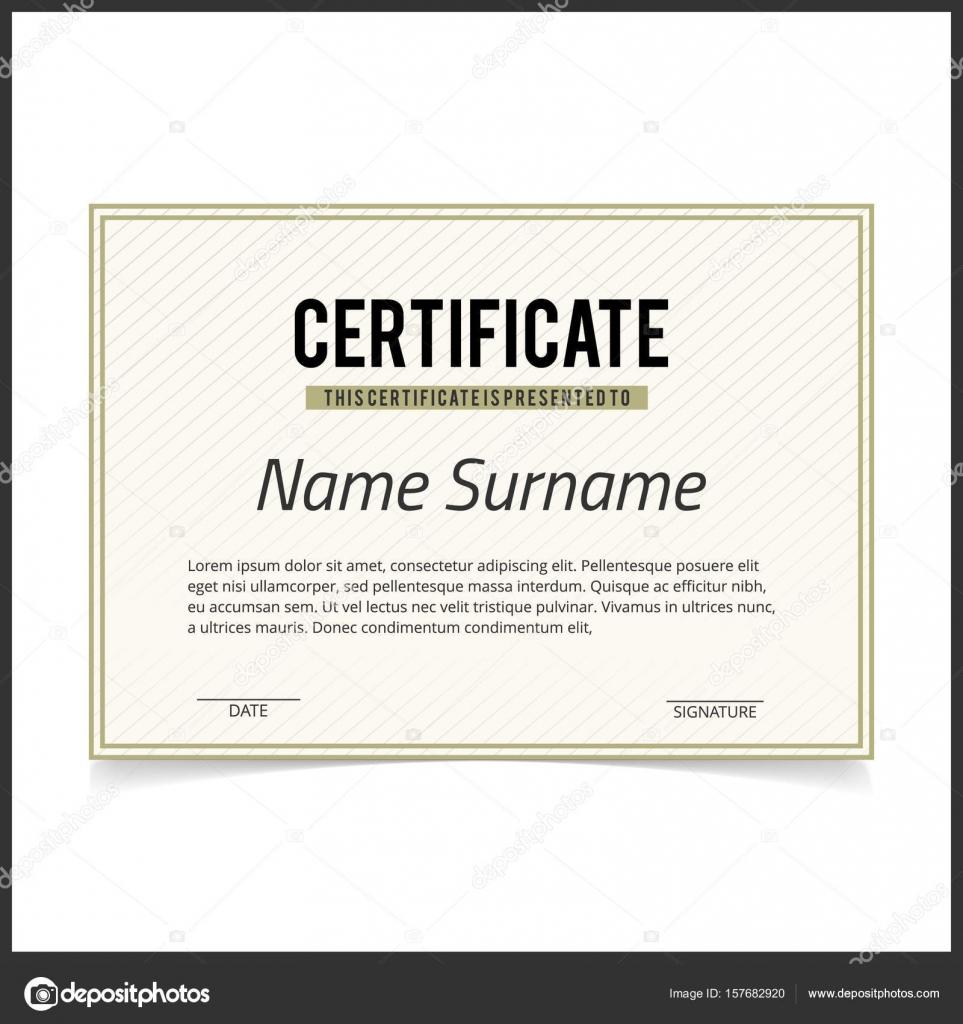 Zertifikat-Vorlage mit grünen Design Grenzen — Stockvektor ...