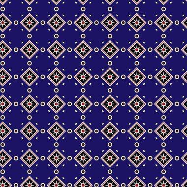 Blue Sindhi Ajrak Pattern