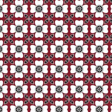Red Sindhi Ajrak Pattern