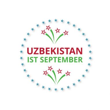 Uzbekistan Independence Day Label