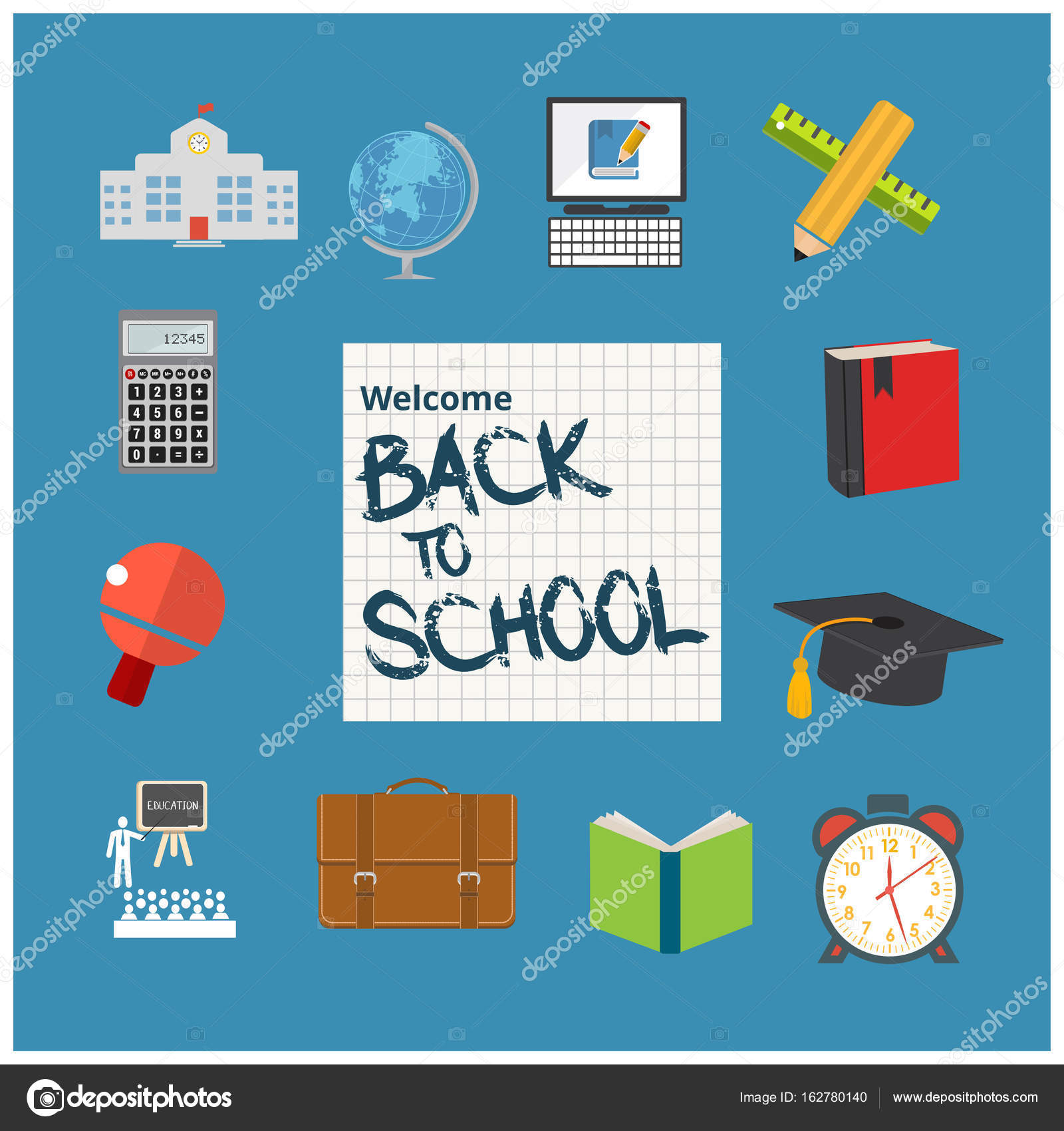 Back To School Flyer Template Stock Vector Ibrandify 162780140