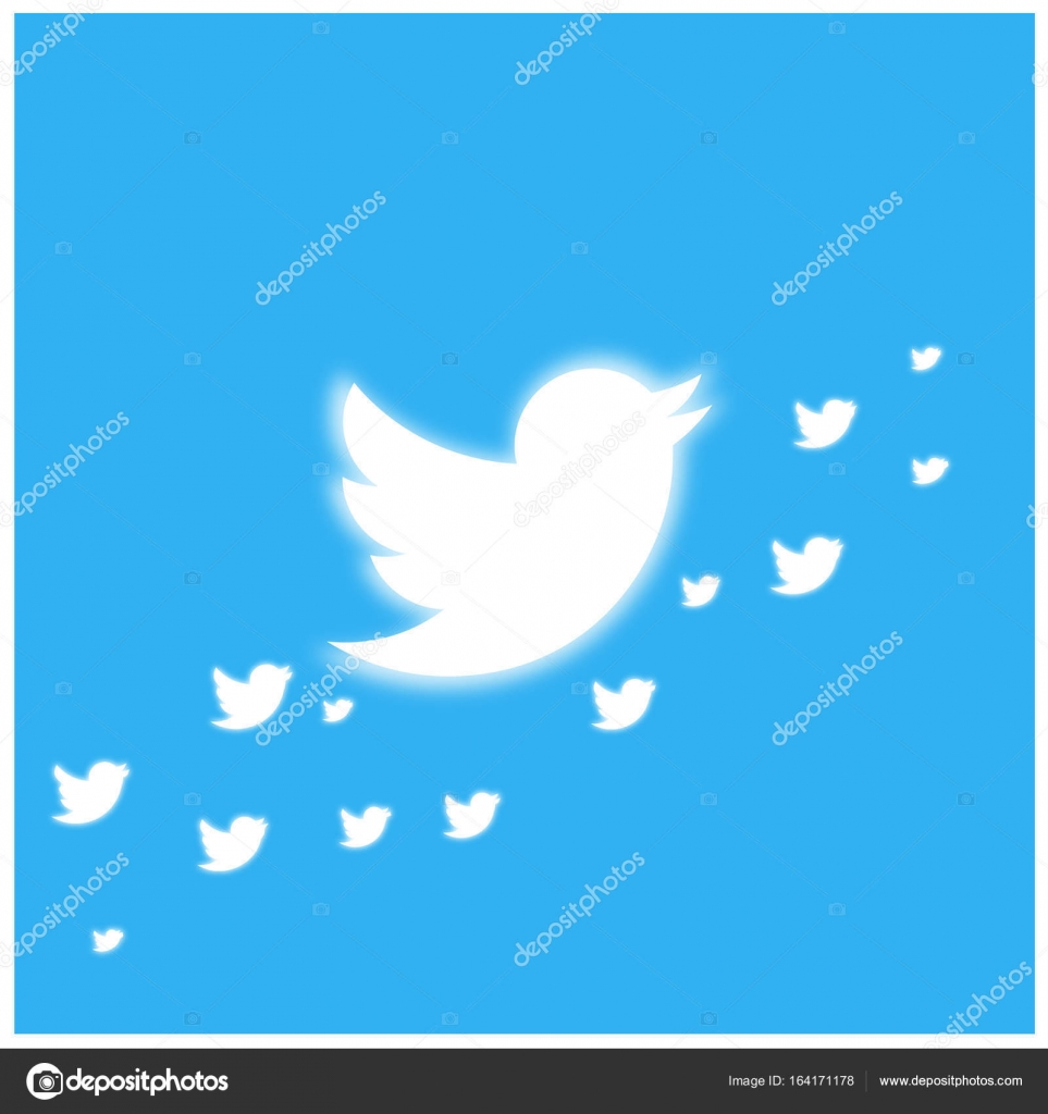 Twitter Bird glowing banner template — Stock Vector © ibrandify ...