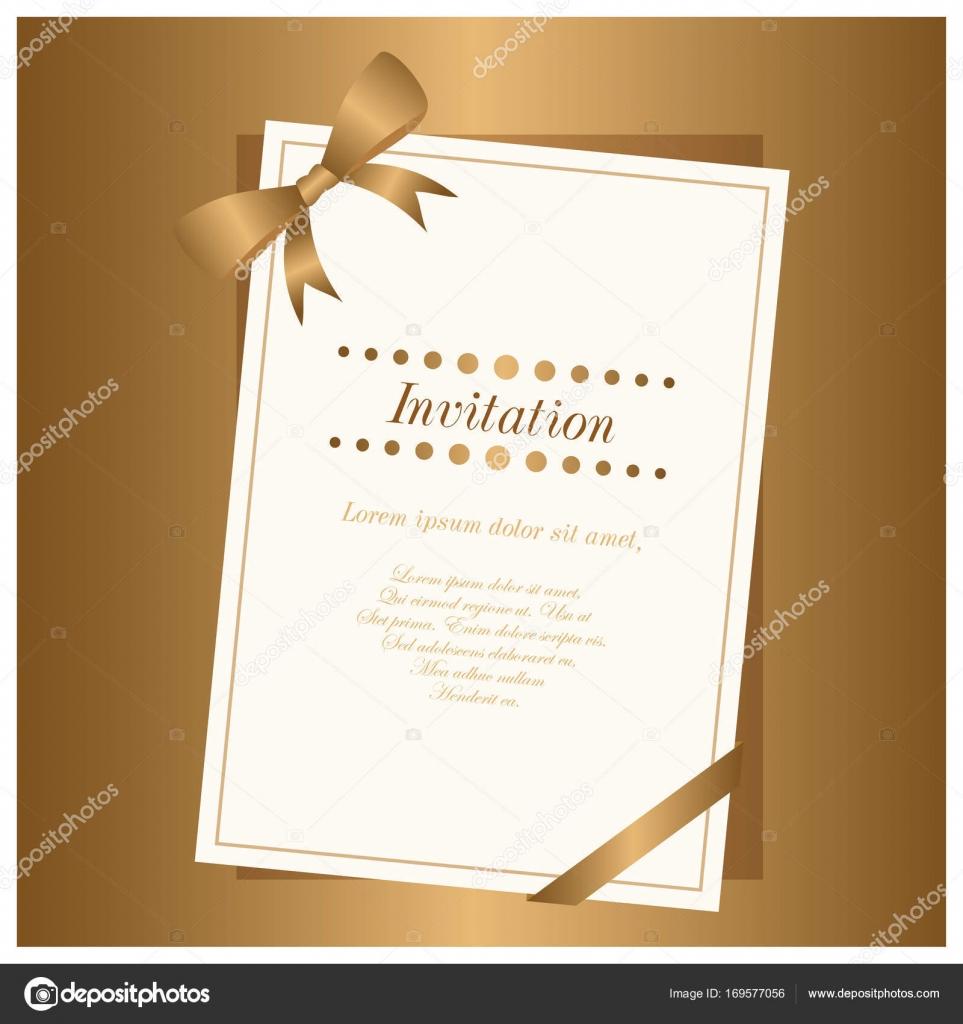 Nueva Tarjeta De Invitación Elegante Archivo Imágenes