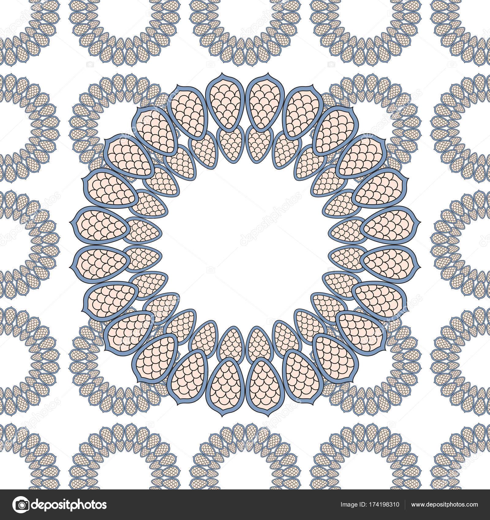 Página Libro Para Colorear Con Elemento Mandala Decorativo Vintage ...
