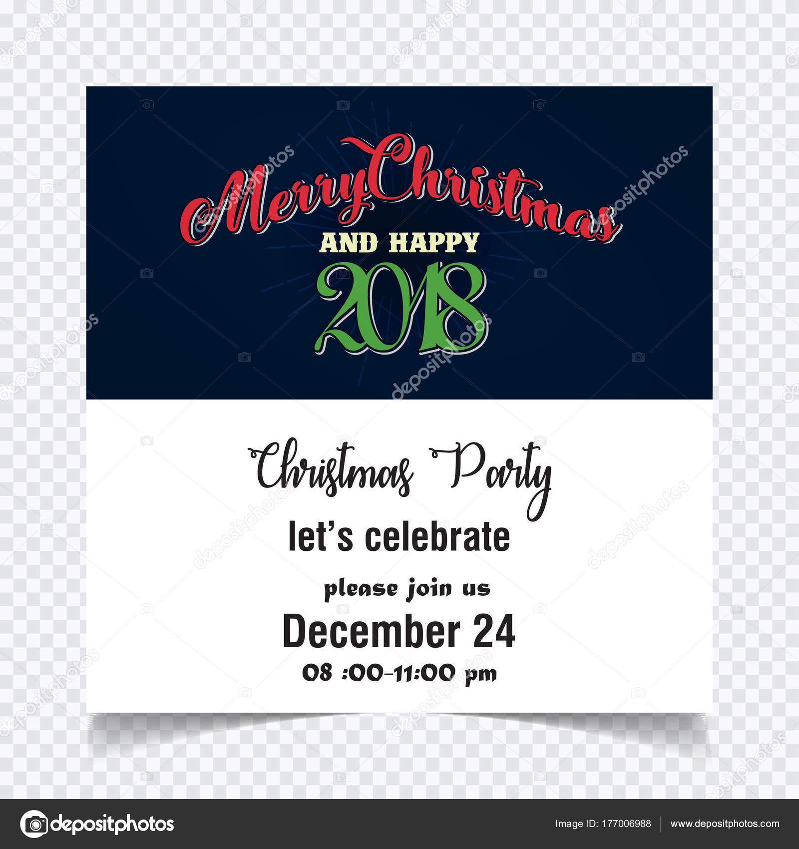 merry christmas and happy new year celebration card stock vector