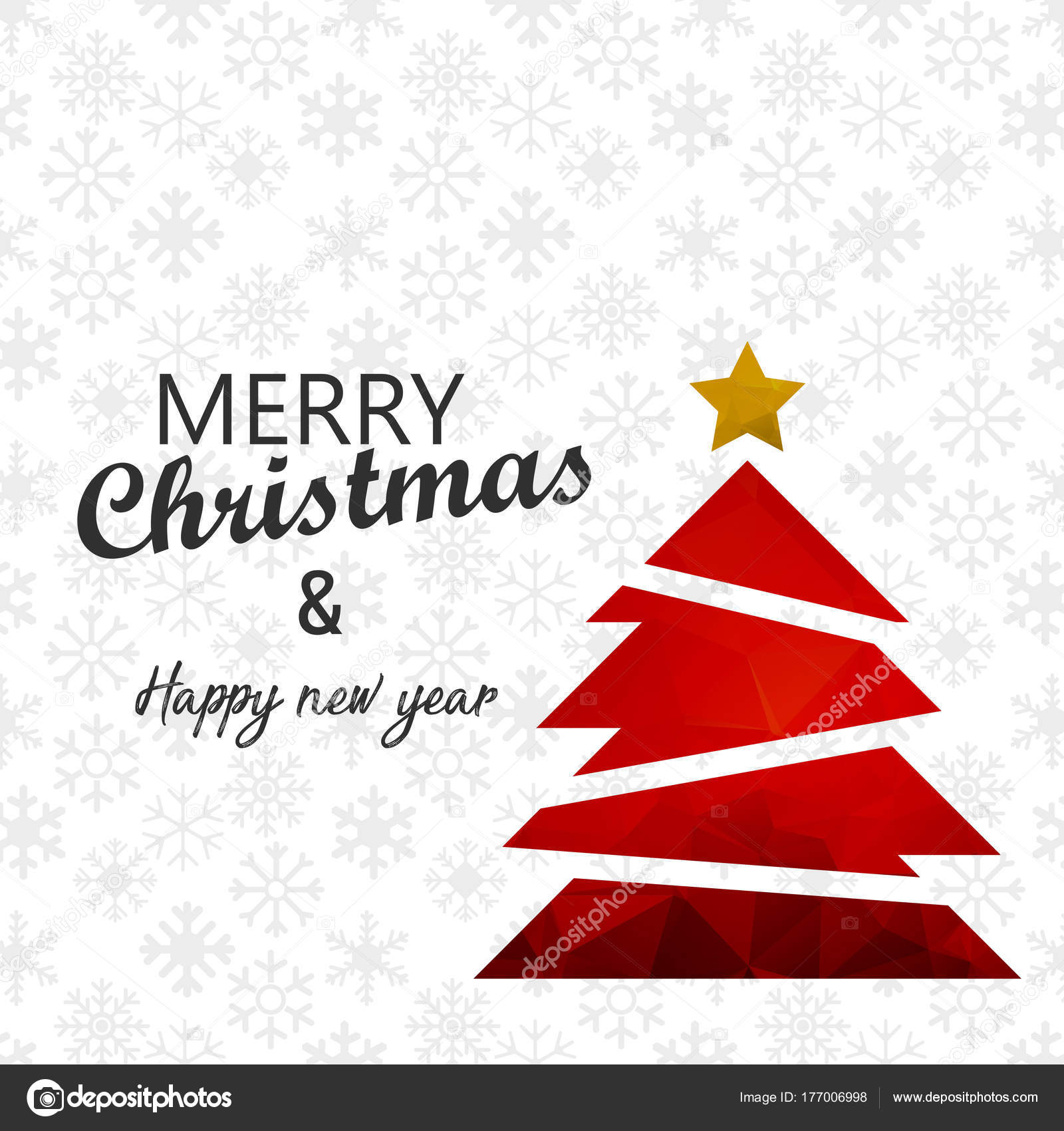 Stern Frohe Weihnachten.Dekorierte Rot Weihnachten Mit Baum Stern Frohe