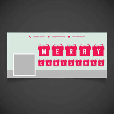 stylish Christmas greetings card with gift boxes, vector, illustration